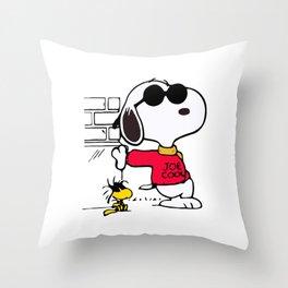 Joe Cool Snoopy Throw Pillow