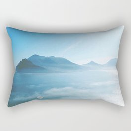 Mountains and ocean Rectangular Pillow