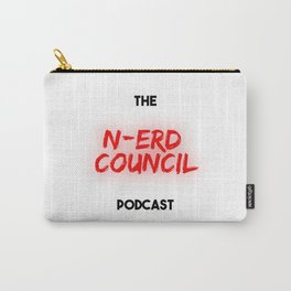 The N-Erd Council Logo (White Variant( Carry-All Pouch