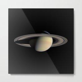 Saturn by Cassini Spacecraft Metal Print