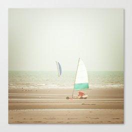 Land yacht beach Canvas Print