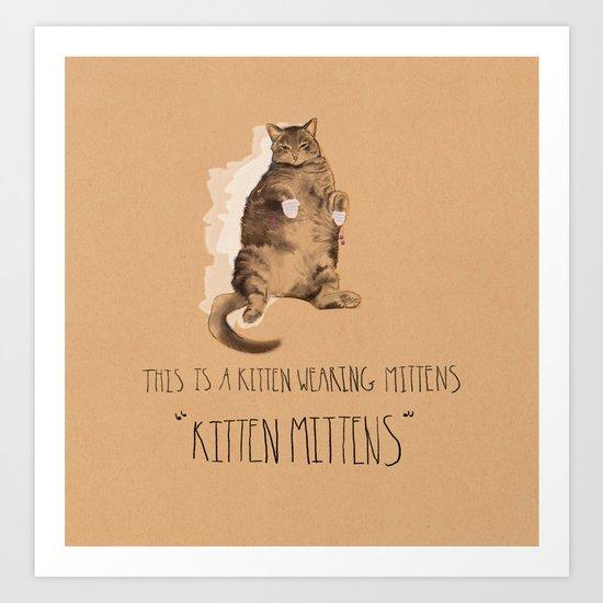 Kitten Mittens Art Print
