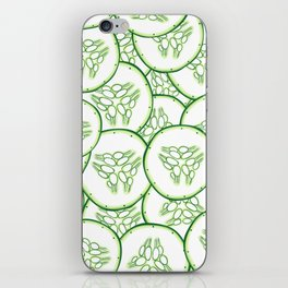 Cucumber slices pattern design iPhone Skin