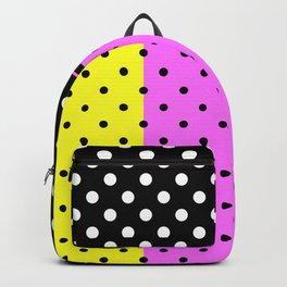 Abstract polka dot , polka dot , bright, neon polka dot Backpack