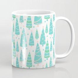 Pastel Christmas Tree Forest Coffee Mug