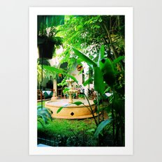 Paradise Fountain Art Print