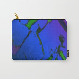 Colliding panels blue Carry-All Pouch