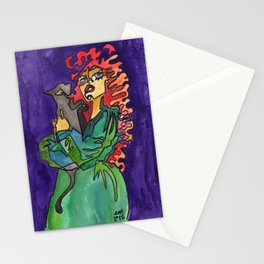 Cat and Her Witch Stationery Cards