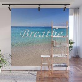 Breathe Cayman Relaxing Beach Waves Wall Mural