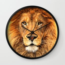 Wild Cat Glare Wall Clock