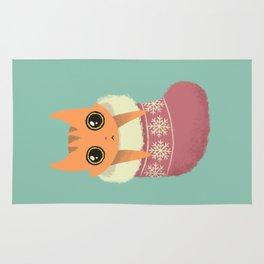 Kitty xmas stocking Rug