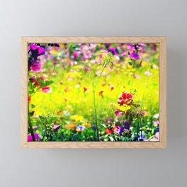 flower meadow Framed Mini Art Print