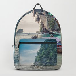 Boat in the sea Backpack
