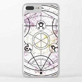 Transmutation Circle Fullmetal Alchemist Clear iPhone Case