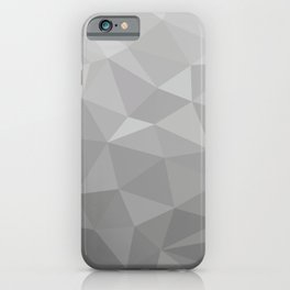 Grayscale Triangles Geometric Shapes Vector Pattern iPhone Case