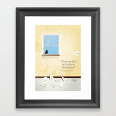 Of dreams and things Framed Art Print