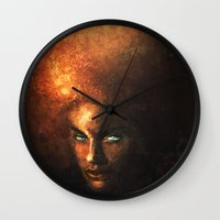 afro Wall Clocks featuring AFRO by John Aslarona