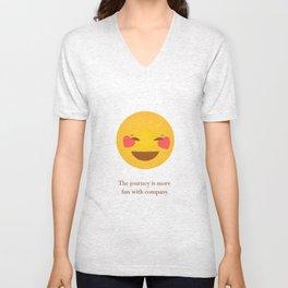 Journey Friendship Quote Emoji Unisex V-Neck