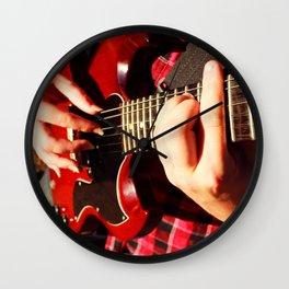 Guitar picking Wall Clock