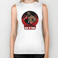 gym Biker Tanks featuring Clubber's Gym by Buby87