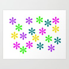 Star Flowers Art Print