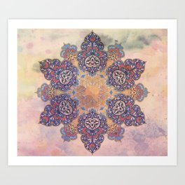 Persian Mandala Art Print
