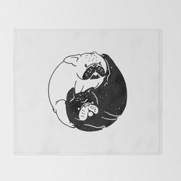 The Tao of French Bulldog Throw Blanket