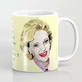 Rose Nylund from the Golden Girls (Yellow) Coffee Mug