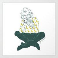 cyrilliart Art Prints featuring Banana Boy by Cyrilliart