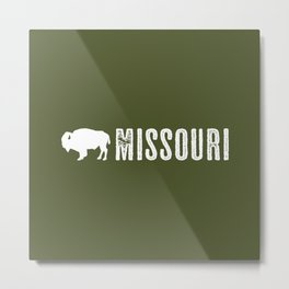 Bison: Missouri Metal Print