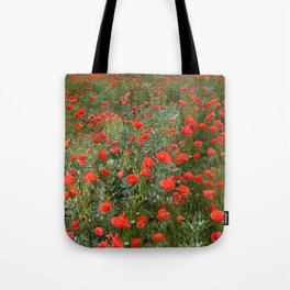 A stroll of poppies Tote Bag