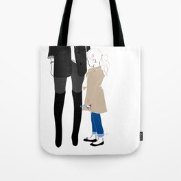 Fashion Trench Girl with Bubbles Tote Bag