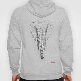 Elephant in continuous line Hoody