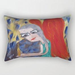"Thumbnail of the painting  ""flash of memory"" Rectangular Pillow"