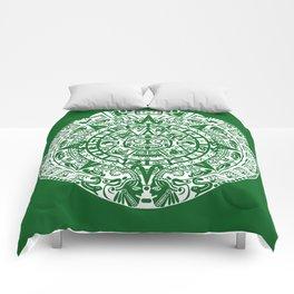 Mayan Calendar // Forest Green Comforters