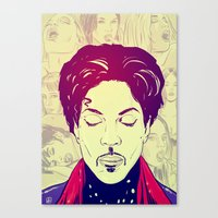 prince Canvas Prints featuring Prince by Giuseppe Cristiano