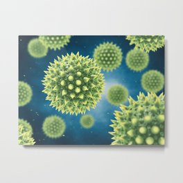 Pollen allergy Metal Print