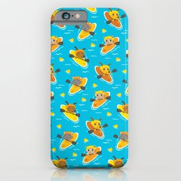 Cats and Dogs in Canoes iPhone Case