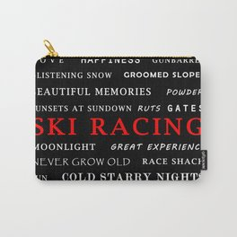 Ski Racing Black Carry-All Pouch