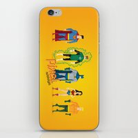 justice league iPhone & iPod Skins featuring Justice League of America - Pixel Nostalgia by Boo! Studio
