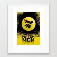 watchmen Framed Art Prints featuring Watchmen poster by Lionel Hotz