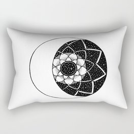 Crescent Moon Mandala Rectangular Pillow