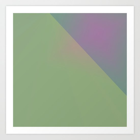 Green and Other Tones Art Print