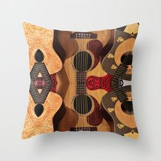 Guitar Reflections Throw Pillow