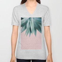 Agave fringe - blush Unisex V-Neck