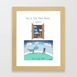 How to Fold Fitted Sheets Framed Art Print
