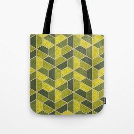 Pattern of three – green Tote Bag