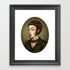 Vampire Gentleman Framed Art Print