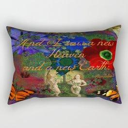 "Adam and Eve's Scriptured ""Earth"" Rectangular Pillow"