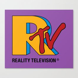 Reality Television Canvas Print